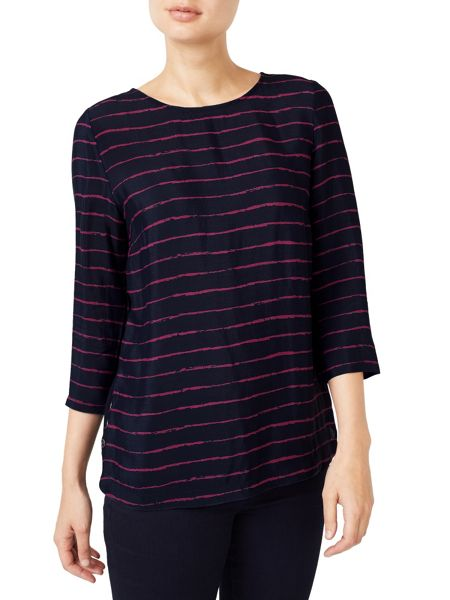 Dash Painted Stripe Woven Top
