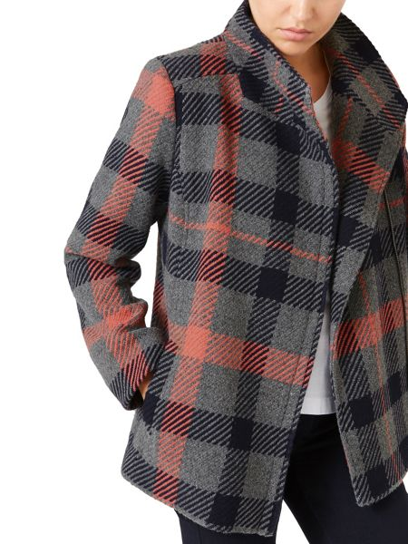 Dash Check Wool Coat