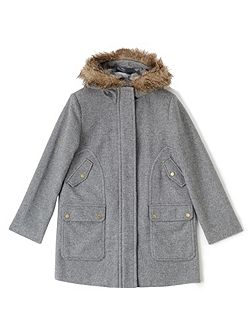 Luxury Wool Hood Parka