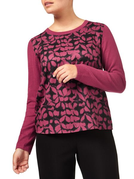 Eastex Woven Front Print Jumper