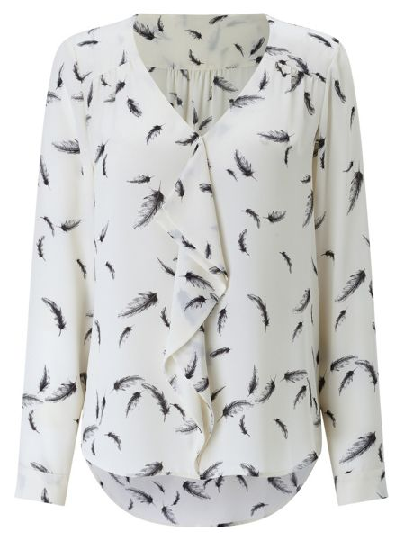Jacques Vert Feather Print Blouse
