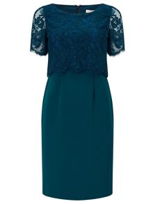 Jacques Vert PETITE LACE LAYERED DRESS