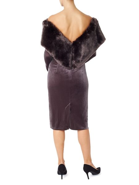 Jacques Vert Fur Detail Dress