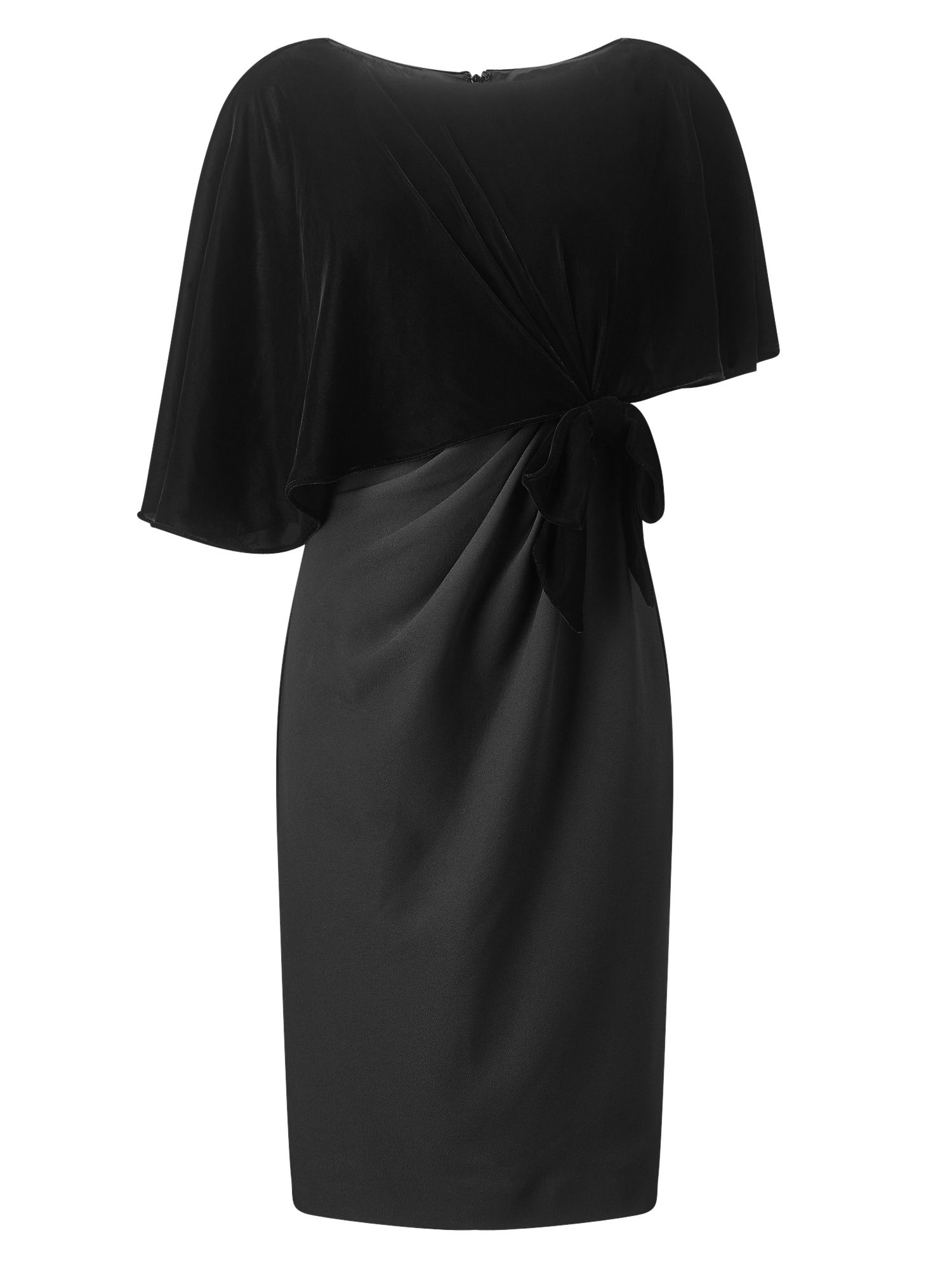 Jacques Vert VELVET SATIN CREPE DRESS, Black