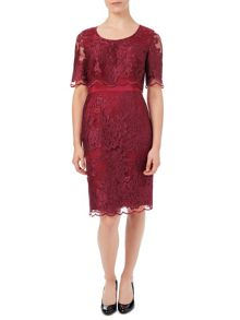 Jacques Vert Petite Lace Layer Dress