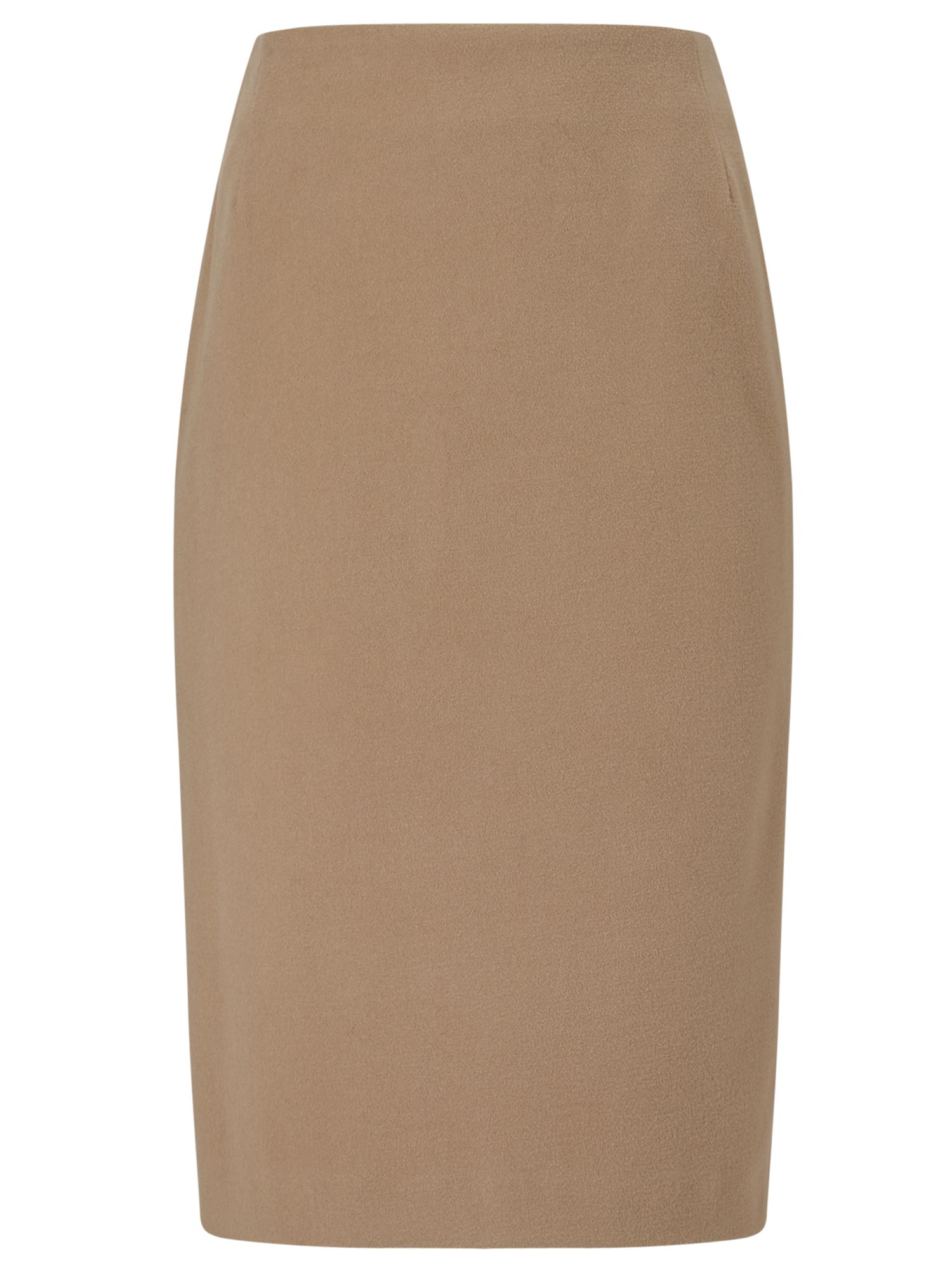 Eastex Velour Pencil Skirt, Brown