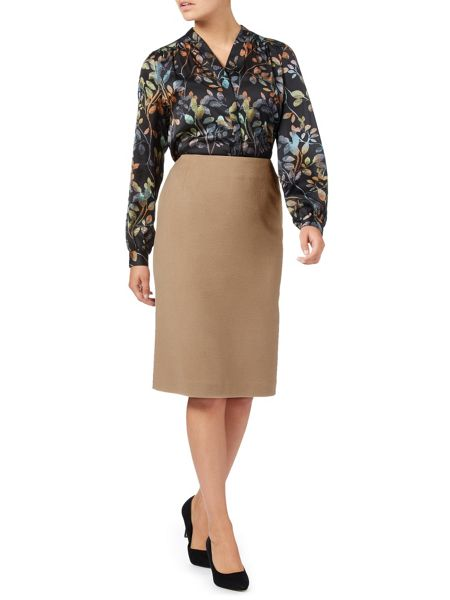 Eastex Velour Pencil Skirt
