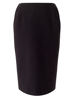 Velour Pencil Skirt