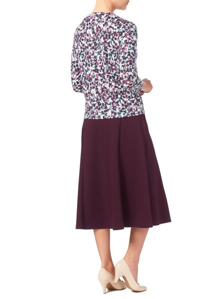 Eastex Aubergine Ponte Skirt Shorter