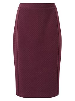Textured Ponte Pencil Skirt