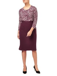 Eastex Textured Ponte Pencil Skirt