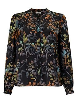 Osbourne Leaves Print Blouse