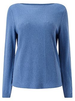 Blue Stitch Detail Jumper