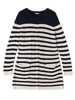 Cable Stripe Knit Tunic