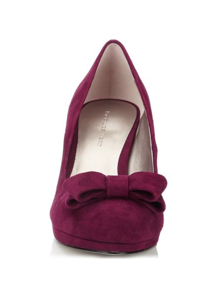 Jacques Vert Suede Bow Shoes