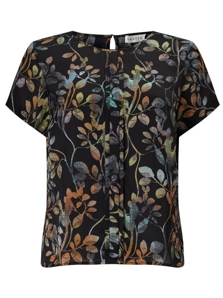 Eastex Osbourne Leaves Shell Blouse