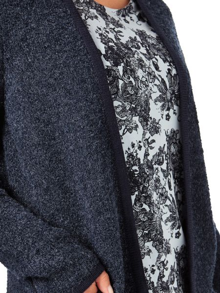 Eastex Navy Boucle Cardigan