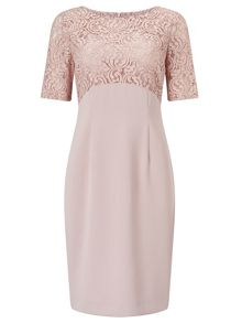Jacques Vert Petite Lace Top Dress