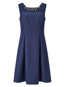 Jacques Vert Petite Embellished Yoke Dress