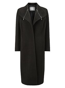 Zip Collar Coat