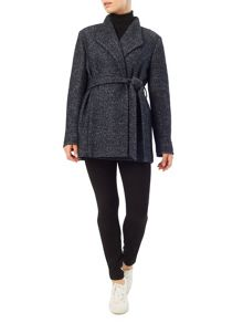 Precis Petite Riley Textured Wrap Coat