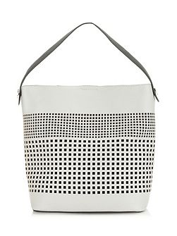 Leah Perforated Bucket Bag