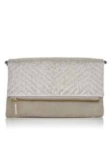 Precis Petite Lucy Silver Beaded Clutch Bag