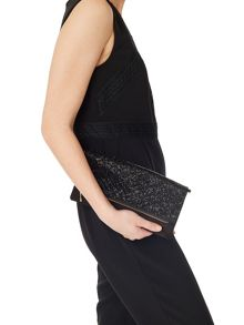 Precis Petite Lucy Black Beaded Clutch Bag