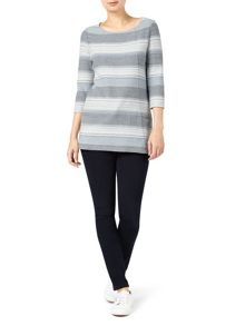 Dash Stripe Textured Tunic