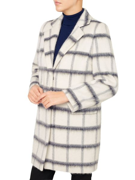 Jacques Vert Oversized Check Coat