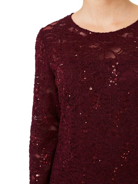 Precis Petite Julia Lace Sparkle Jersey Top