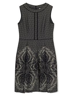 Jeff Banks Mono Jacquard Dress