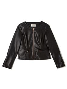 Precis Petite Jeff Banks Faux Leather Jacket