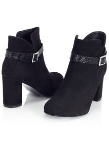 Jacques Vert Buckle Trim Ankle Boot