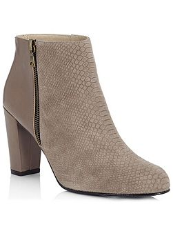 Snake Effect Ankle Boot