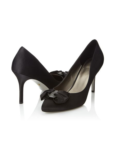Jacques Vert Bow Diamante Trim Shoe