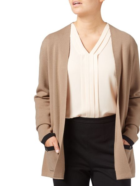 Eastex Edge To Edge Tipped Cardigan