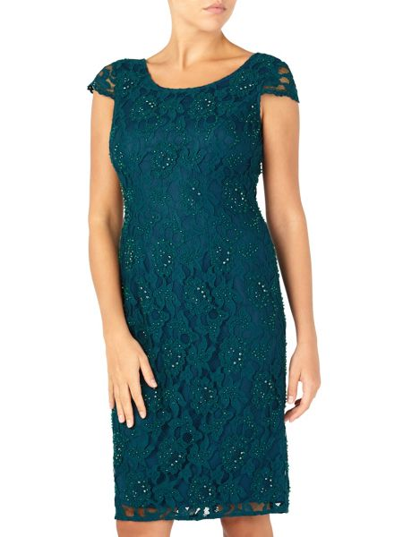 Jacques Vert Beaded Lace Dress