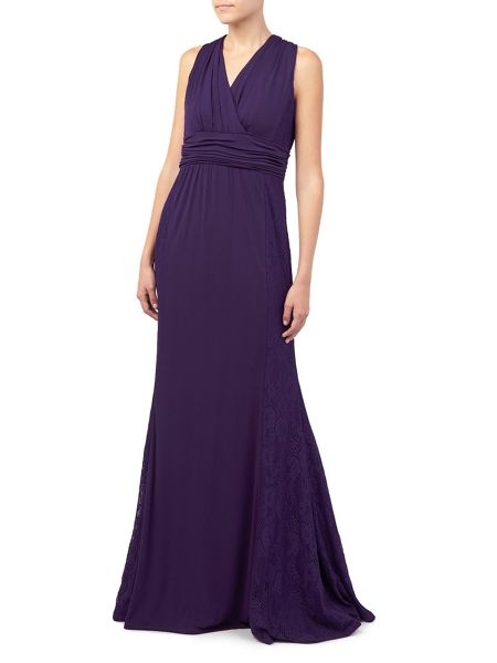 Jacques Vert Lace And Jersey Maxi Dress