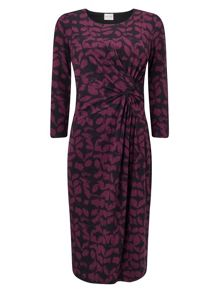 Eastex Winter Etch Print Jersey Dress