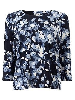 Mono Watercolour Floral Top