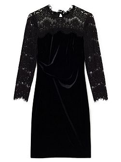 Faith Lace Velvet Dress