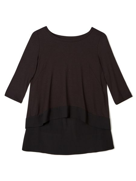 Precis Petite Jeff Banks Chiffon Cape Top
