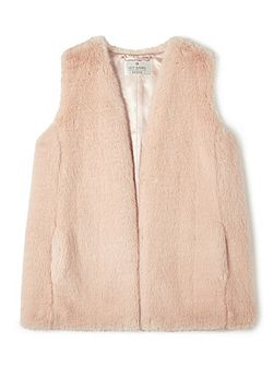 Jeff Banks Blush Fur Gillet