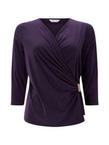 Eastex Trim Detail Wrap Top