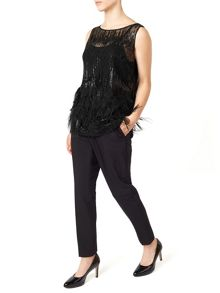 Jacques Vert Petite Sequin Feather Top