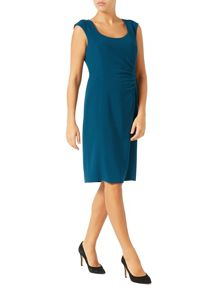 Jacques Vert Side Pleat Crepe Dress