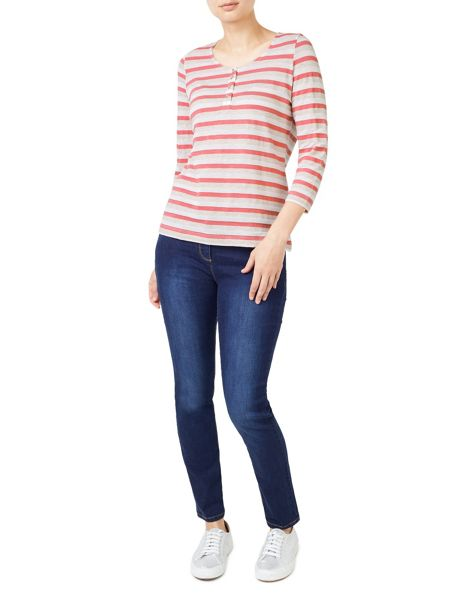 Dash Textured Stripe Top