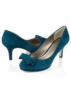 SUEDE BOW SHOE