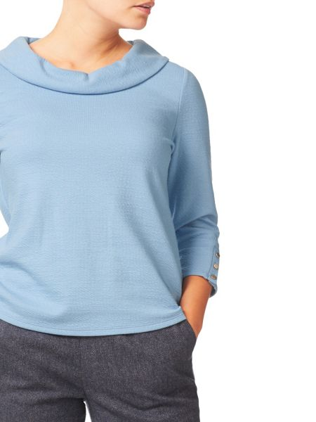 Eastex Cowl Neck Jersey Top